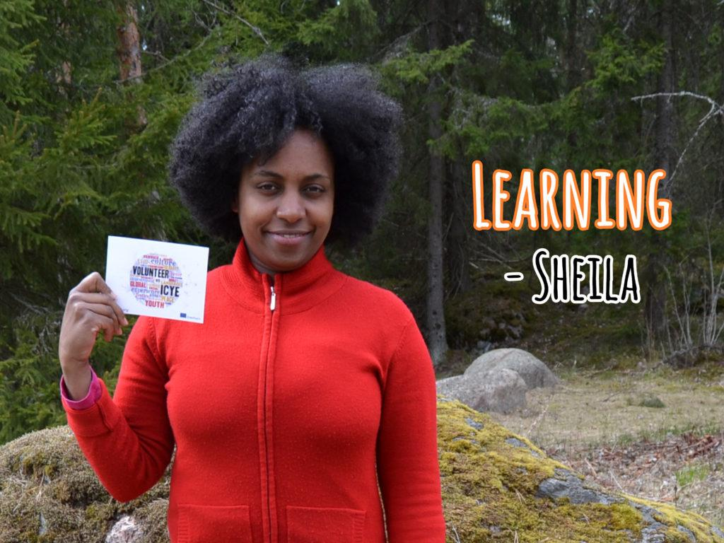 Sheila Daude from Mozambique volunteers in a folk high school in Finland